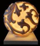 LEIDENE van het Beeldhouwwerk van de Bal van het zandsteen Lichte Lantaarn voor het Landschap van de Tuin