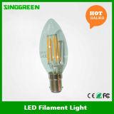新しいセリウムのRoHS ERP 360の程度4W LEDのフィラメントの蝋燭B15 Dimmable