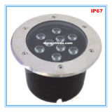 Indicatore luminoso di IP67 9W LED Inground con il corpo dell'acciaio inossidabile