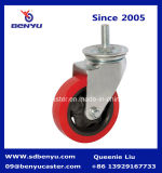 Polyurethane Colourful Screw Thread con Brake Hardware Caster Wheel