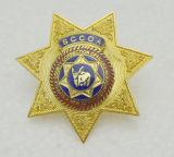 Police de calidad superior Badge con Glitter Enamel