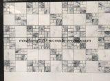 Белая мраморный мозаика стены и плитки кухни каменная