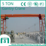 Solo Girder Gantry Crane con Electric Hoist