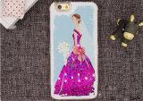 BlingはiPhoneまたはSamsung/LG/Motoのための王女速い砂TPUの携帯電話の箱を塗った