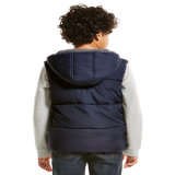 Squadra di college Sleeveless Winter Jacket dei ragazzi con Puff Padding