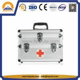 Aluminium-Erste HILFEen-medizinischer Kasten mit 3 Schlüsselverschlüssen (HM-2008)