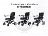 Cadeira de rodas dourada da potência do E-Trono do motor