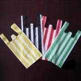 Sacs rayés de gilet colorés par plastique de PE avec le bon prix