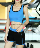 Le donne mette in mostra rapidamente gli Shorts che di yoga del reggiseno la ginnastica porta i vestiti atletici