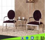 最もよい品質の円形の黒は椅子を食事する王位を設計する