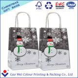 Bolsa de papel impresa del regalo del papel de Kraft para la Feliz Navidad