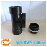 ABS Dwv de taille de 3 pouces équipant le té de Cleanout de la fiche