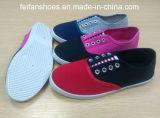 最も新しい女性の注入のズック靴OEMの偶然のスニーカーの靴(HP-1)