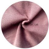 Côte de tricotage poly/de rayonne/Spandex tissu 2X2