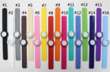 Сбывание милого подарка шлепка Wristwatch кварца силикона детей вахты шаржа типа Yxl-879 Available2016 новым смешанное способом горячее