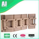 Corrente plástica da parte superior lisa da única dobradiça com eficiência de funcionamento elevada