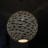 De Chinese Lamp van de Tegenhanger van de Glasvezel van de Koffie van de Stijl voor het Project van het Hotel