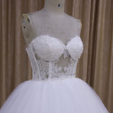 "Vestido de casamento frisado ""sexy"" 2016 do vestido de esfera do querido"