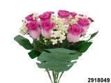 인공 플라스틱 또는 실크 꽃 장미꽃 봉오리 부시 (2918049)