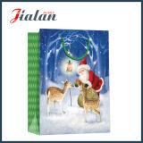 Лоснистый прокатанный мешок подарка покупкы рождества отца бумаги искусствоа бумажный