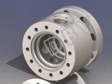 APIの鍛造材鋼鉄CF3mフランジの球弁