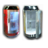 Mini refroidisseur thermoélectrique pour la boisson montrant DC12V avec AC Adaptorac100-240V