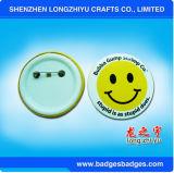 Кнопка стороны усмешки прикалывает значок Tinplate с имеющейся нестандартной конструкцией