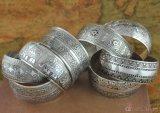 Retro Gesneden Etnische Armbanden van het Manchet van Tendensen Antieke Zilveren