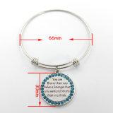 Bijou rond de mode de bracelet d'acier inoxydable de bracelet des textes de Customerized