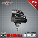 4 Inch 10W LED Car Driving Work Light für Fork Truck mit Bule Light (Sm-4010-Rxa)