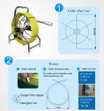 Appareil-photo flexible imperméable à l'eau d'inspection d'égout de ressort avec le frein