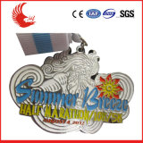 Medalha chapeada do metal da classe elevada prata feita sob encomenda