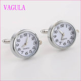 Conexiones de pun¢o de plata del reloj de Gemelos de la venta de VAGULA de las mancuernas verdaderas calientes de calidad superior del reloj