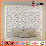 Vendita calda! Scultura composita di alluminio della decorazione della parete intagliata macchina di CNC (fornita da IDEABOND)