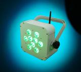 arruela recarregada bateria da parede do diodo emissor de luz de 5in1 Rgbaw para o casamento