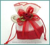 クリスマスの結婚式の好意のビロードの菓子袋のためのビロードキャンデー袋