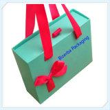 Rectángulos de regalo promocionales de la cartulina con la maneta