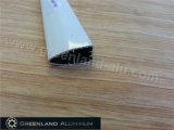 Carril doble de la parte inferior del rodillo en el perfil de aluminio