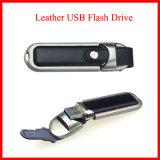 USB de alta velocidad del cuero del mecanismo impulsor del flash de 128g USB3.0