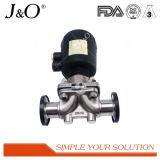 De sanitaire Klep van het Diafragma van het Roestvrij staal met Pneumatische Actuator