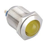 Luz de indicador impermeável do diodo emissor de luz do metal de Hbgq22-D/J/N 22mm