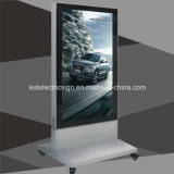 Diodo emissor de luz livre Light Box de Standing com Magnetic Panel Aluminum Frame Doubled Side Advertizing Display