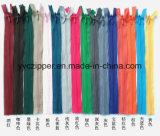 Chiusura lampo di nylon invisibile variopinta per il vestito
