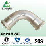 Top Quality Inox Plomberie Sanitaire Acier Inoxydable 304 316 Presse Raccord 15 degrés Coude Elbow Threaded Cap Water Supply Fittings