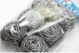 6PCS Stainless Steel Scrubber per Kitchen Cleaning