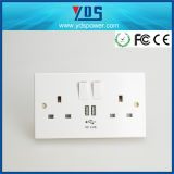 UK USB Wall Socket con interruptor