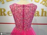 重いビーズの女性党カクテルドレス新しいデザインプロムのイブニング・ドレス