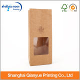 명확한 Window 및 Kraft Paper Bags Without Handle