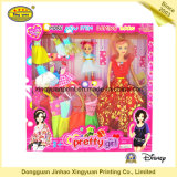 Упаковывая коробка с окном PVC для куклы игрушки (JHXY-PB0040)