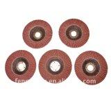 Disco de pulido de la solapa del óxido de aluminio de madera y del metal